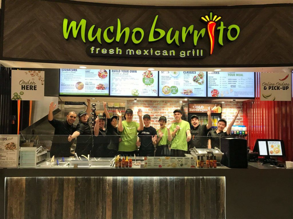 employees at mucho burrito fresh mexican grill